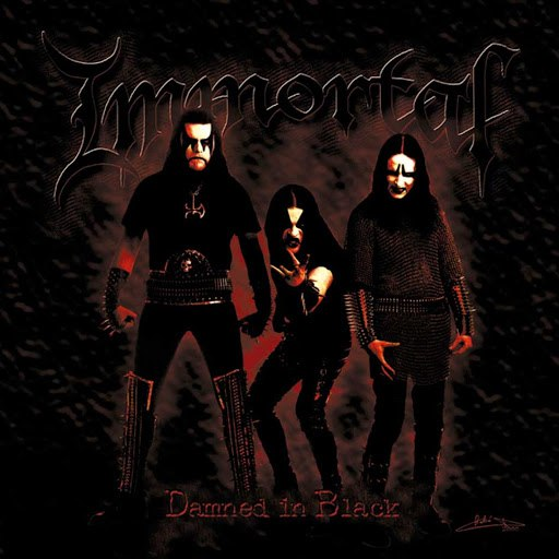 Immortal альбом Damned In Black