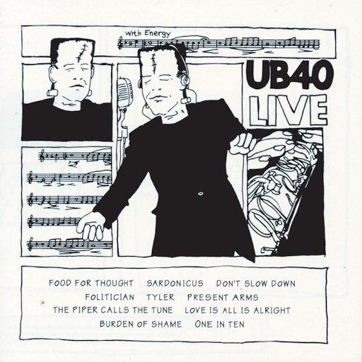 UB40 альбом UB40 Live