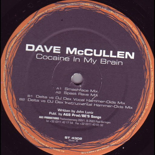 Dave McCullen альбом Cocaine in my Brain