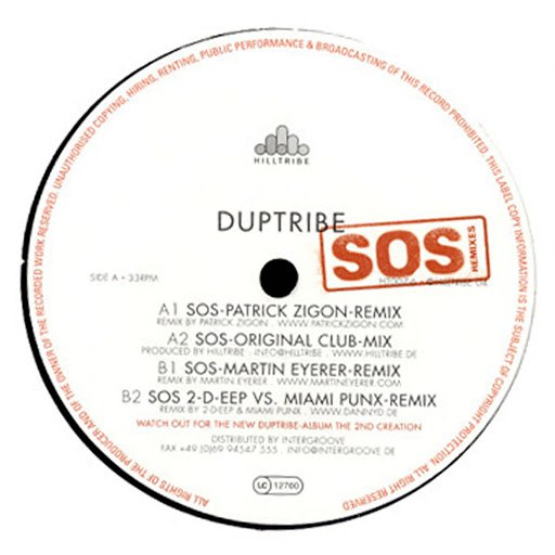 Duptribe альбом S.O.S. - The Sound Of Silence Remixes