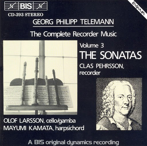 GEORG PHILIPP TELEMANN альбом Telemann: Complete Recorder Music, Vol. 3