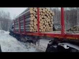 22.02.2017 - лобовое ивеко и камаз 18км усть-кемь-назимово