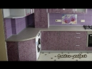 Розовая кухня Амели-мебель