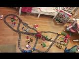 Железная дорога Lego Duplo (Лего Дупло) и HUI MEI (качественный китайский аналог)