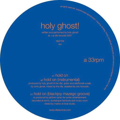 Holy Ghost! альбом Hold On