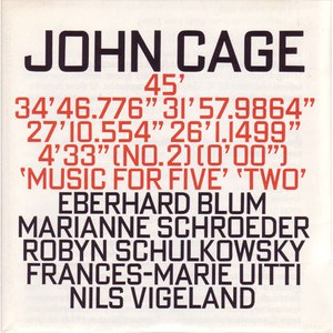 John Cage альбом Music For Five