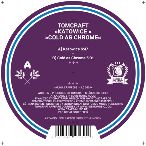 Tomcraft альбом Katowice/Cold as Chrome