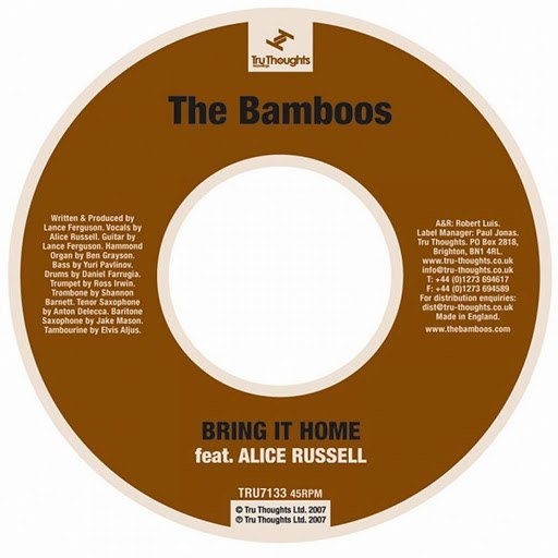 The Bamboos альбом Bring It Home (feat. Alice Russell)