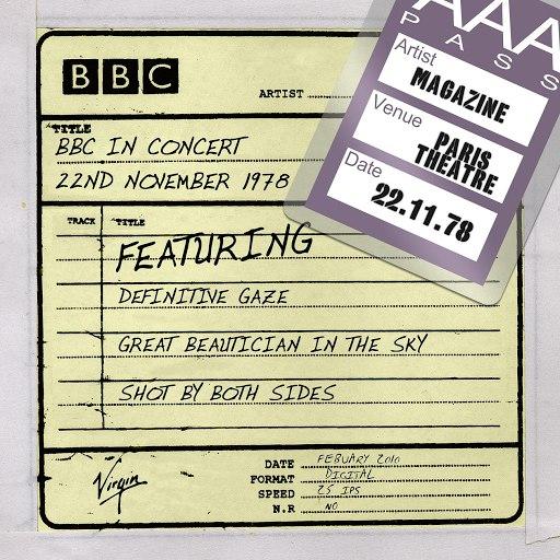 Magazine альбом BBC In Concert (22nd November 1978)