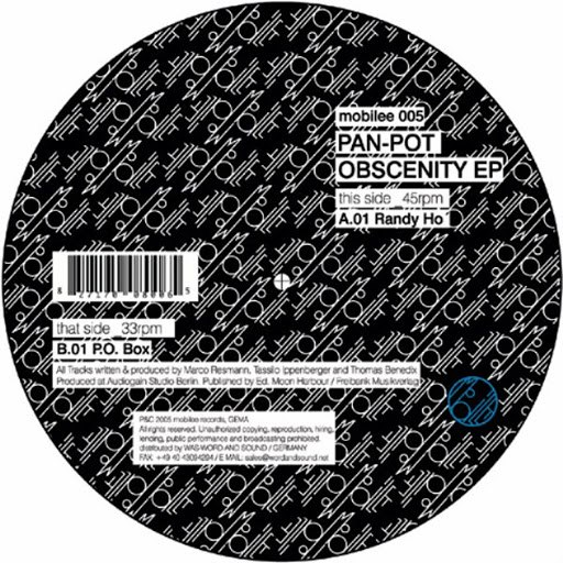 Альбом Pan-Pot Obscenity EP