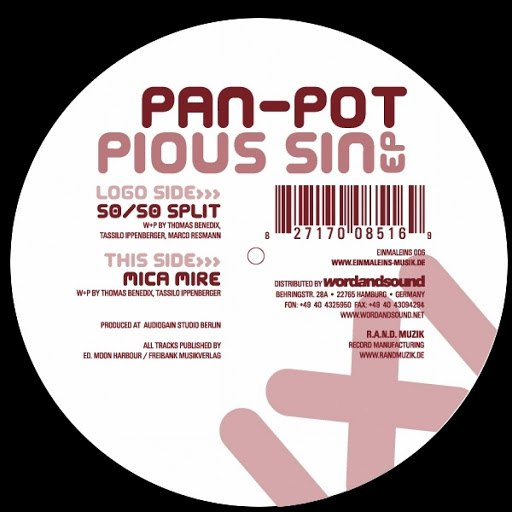 Pan-Pot альбом Pious Sin Ep