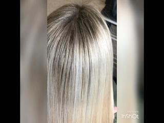 Пепельный рельефный блонд 😍😍😍