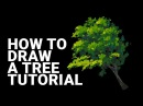 How To Draw a Tree Tutorial Custom Brush Photoshop