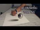 3D Art Drawing of haver ball Speed Painting Trick Art