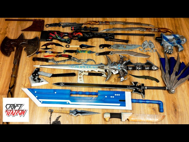 Моя коллекция оружия из игр, фильмов и аниме за 2016 год