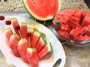 Как Нарезать Арбуз Быстро и Вкусно 3 способа How to Cut a Watermelon