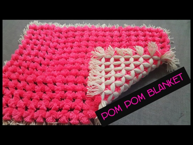 POM POM BLANKET DIY PLY LOOM - full step by step tutorial.|| how to frame a blanket|| diy blanket