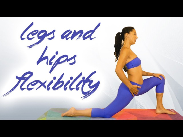 Yoga for Flexibility with Sanela, Hips, Legs Glutes Stretch, Back Pain, Splits, Beginners at Home