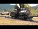 Mt. Rainier Scenic Railroad. 2-8-2 70 Steam Locomotive switching at Mineral, WA