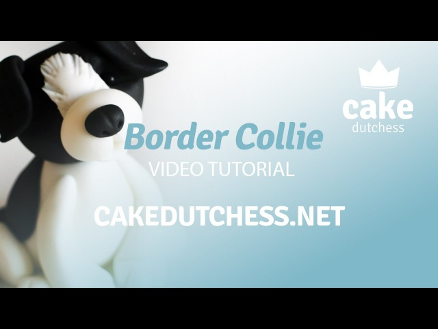How to make a Border Collie Dog Cake Topper - Cake Decorating Tutorial