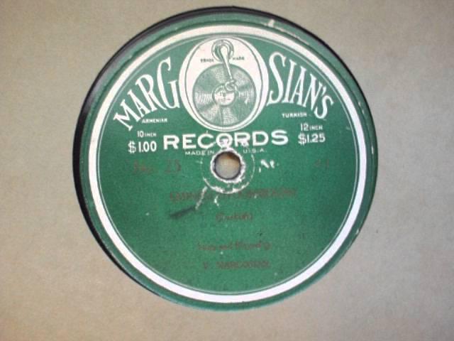 Margosian 78 RPM 25a -Vartan Margosian - Eminem Otoormoush -Turkish Song
