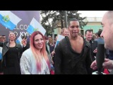 ESCKAZ in Kyiv Valentina Monetta &amp Jimmie Wilson (San Marino) singing on the Red Carpet