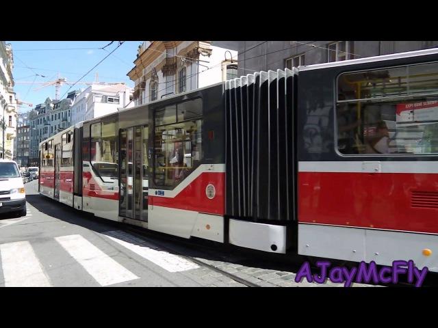 Tramvaj v Praze Lazarska Tram in Prague Lazarska