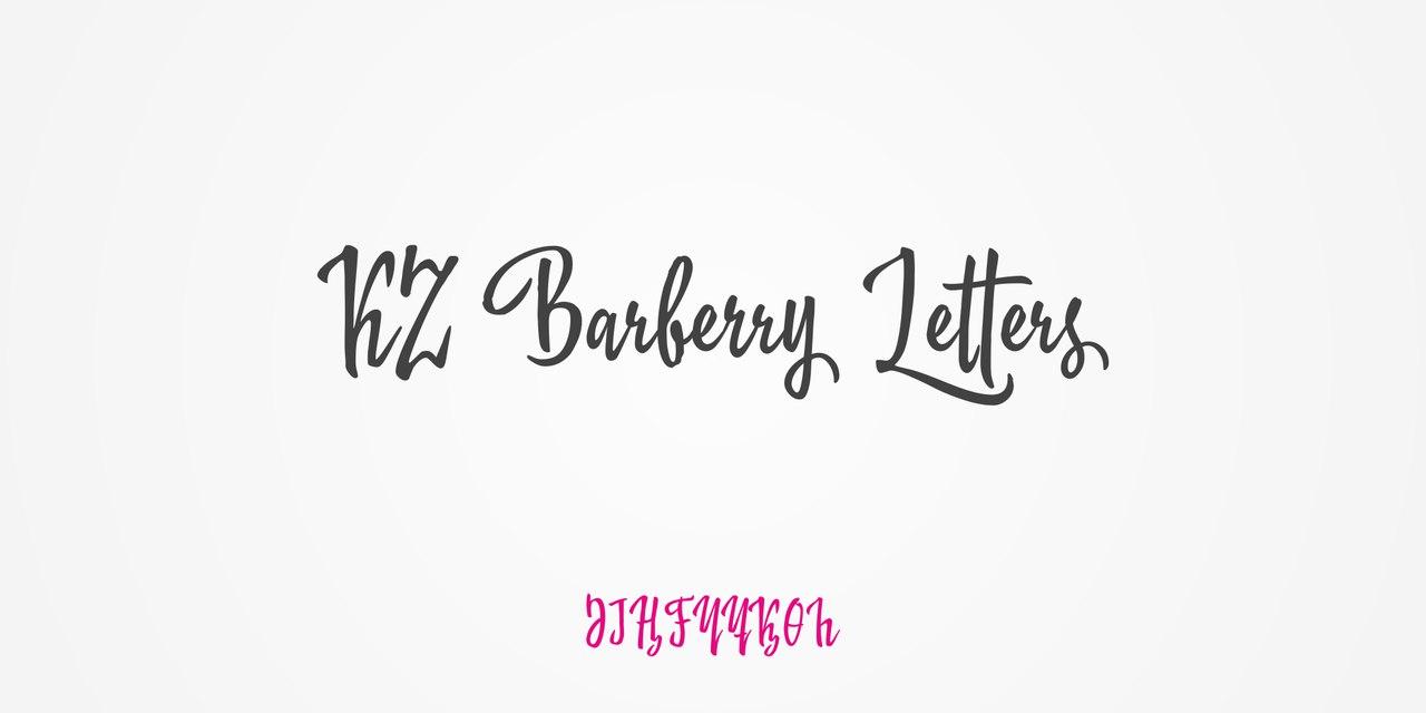 KZ Barberry (2 fonts)