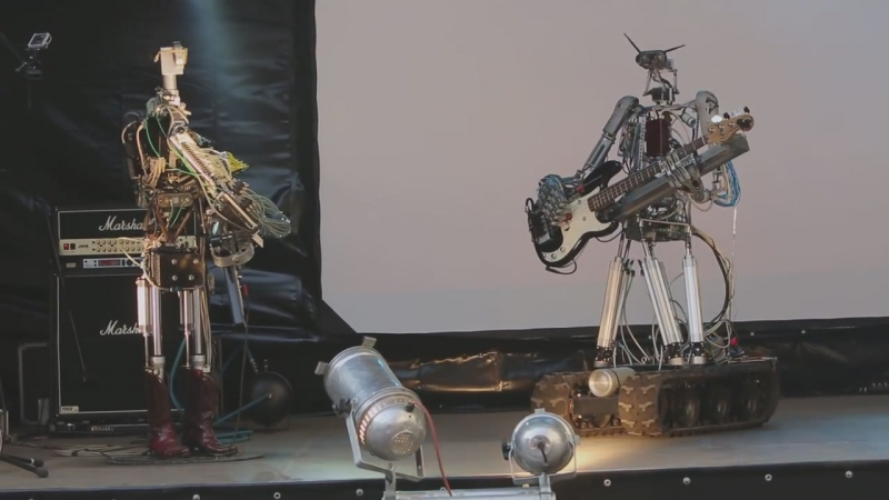 Compressorhead - T.N.T. (AC_DC Cover) (live in Moscow, Russia)