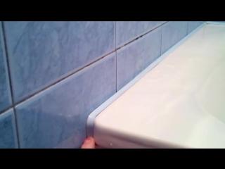 Бордюр для ванны клеим на аквариумный герметик. Проблема гидроизоляции ванны касается почти всех...