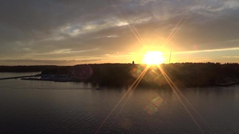 Закат на озере Меларен