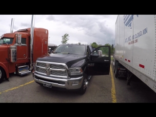 Дальнобой.  Работа на пикапе в США без CDL и обзор техники 2014 Dodge Ram 3500.