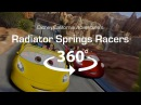 4K 360 Virtual Reality Roller Coaster: Radiator Springs Racers - VR 360 Video (POV)