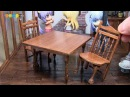 DIY Dollhouse items Miniature Cafe Table and Chairs ミニチュアカフェテーブルと椅子作り