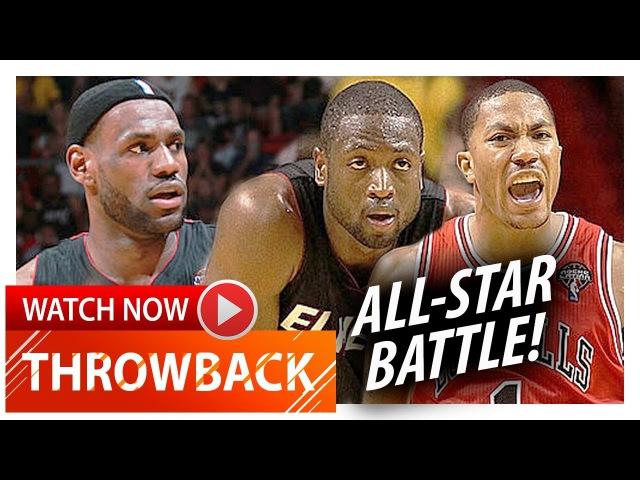 MVP Derrick Rose vs LeBron James Dwyane Wade EPIC Duel Highlights (2011.03.06) - MUST Watch!