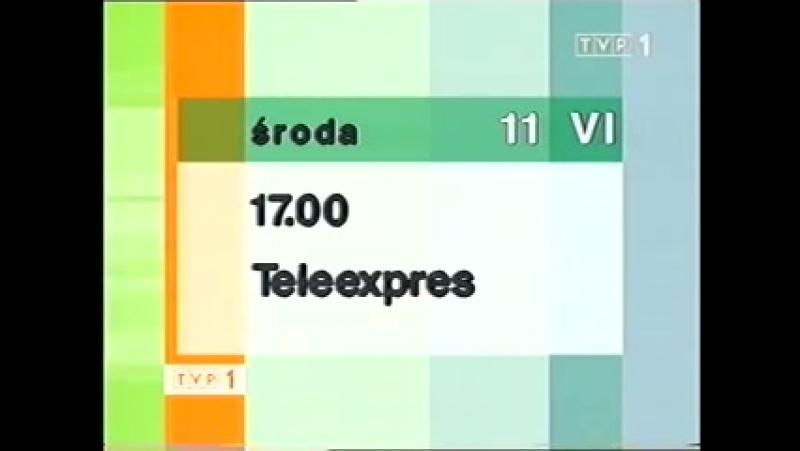 Программа передач и конец эфира (TVP1 [Польша], 10.06.2003)