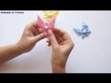 Бабочки из лент своими руками, Канзаши _ Kanzashi butterflies ribbon, Tutorial _ DIY