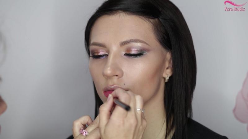 Verastudio урок № 9 Вечерний цветной макияж