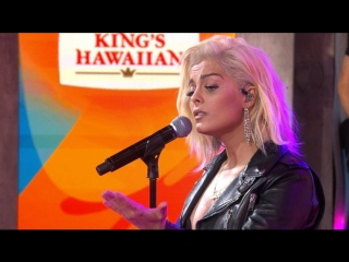 Bebe Rexha sings In the Name of Love in candid post-GMA performance