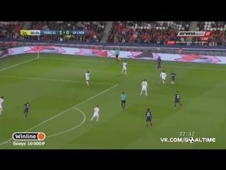 ПСЖ - Кан 1_1. Обзор матча. Франция. Лига 1 2016_17. 38 тур