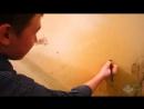 Меламиновая губка удаление засаленности налета от дыма въевшейся грязи чистка плиты