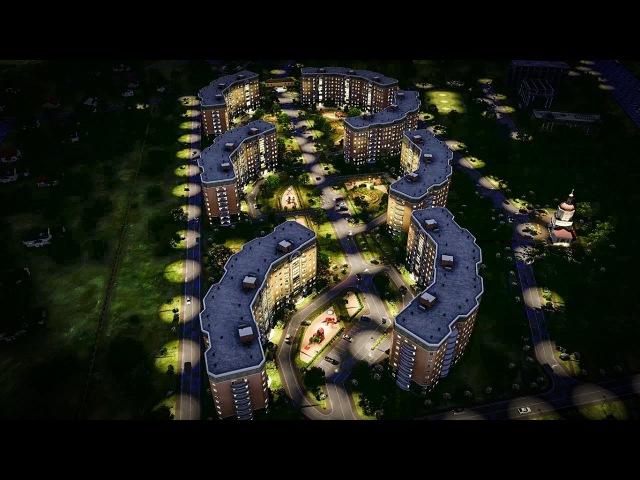 Архитектурная визуализация жилого комплекса | Lumion 6.0 3D Animation
