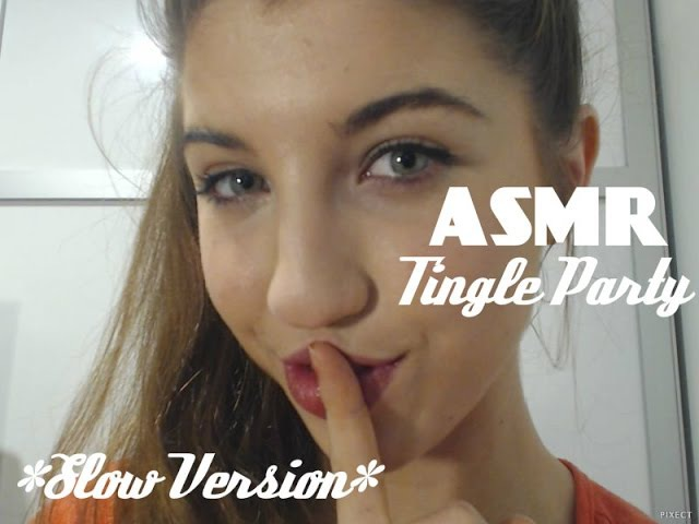 ASMR ~Slow~ Ear Eating Kisses Soft Whispers Tingle Party 2
