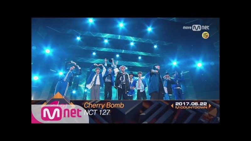 Top in 4th of June, 'NCT 127' with 'Cherry Bomb', Encore Stage! (in Full) M COUNTDOWN 170622 EP.529