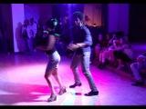 Terry SalsAlianza y Sabrina Vinciguerra  Social Salsa dancing La Conciencia Социальная сальса