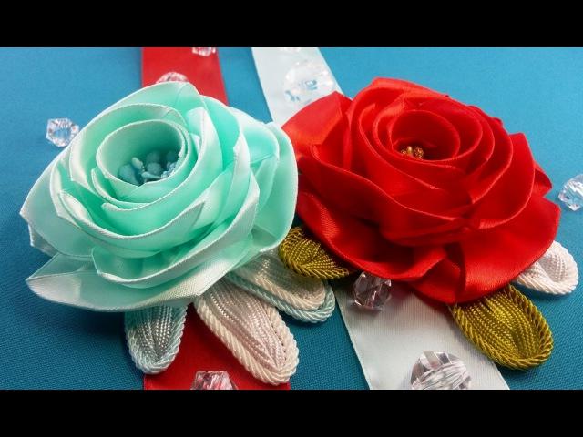 Ribbon rosetemplates sizeRosa de la cintatamaño de plantillasРозы из лентварианты шаблонов