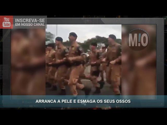 Treinamento da PM do Paraná, Policiais cantam hinos violentos, espanca até matar, arranca a cabeça