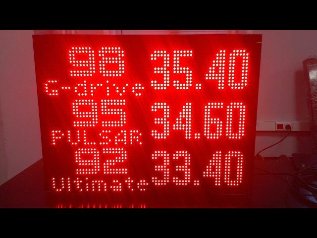 Информационное табло ITLINE ТК-А23.3 для операторной АЗС с программным обеспечением