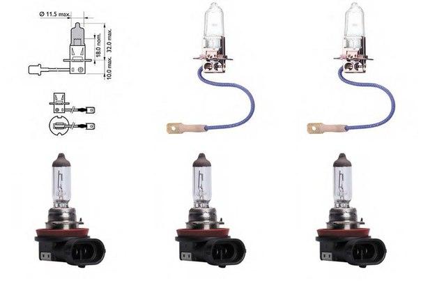 Лампа накаливания, основная фара; Лампа накаливания, противотуманная фара для BMW 1 купе (E82)