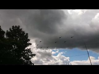 (21.06.2017) В Минском районе Мачулищах Вертолет Ми-8МТВ-5 Парады группа 50-я смешанная авиационная база